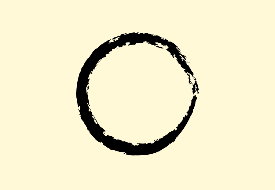 Ensou, the zen circle of teaching.